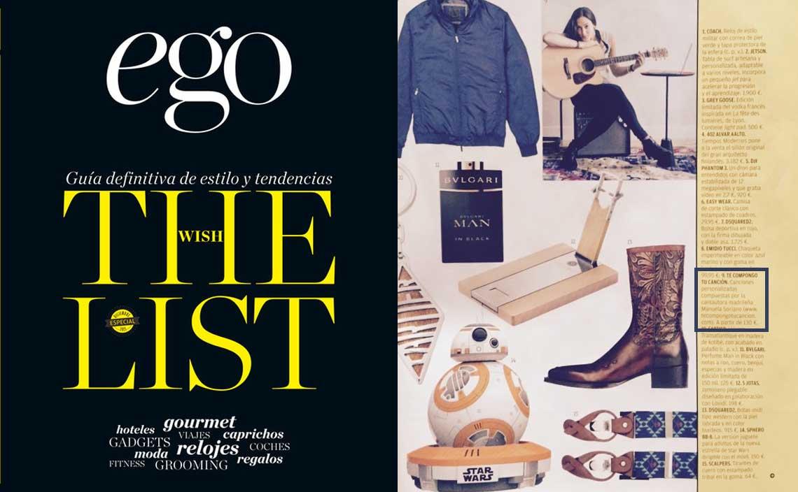 Regala una canción personalizada, por Revista Ego